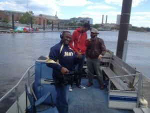 On the Anacostia River (D.C.) shooting documentary